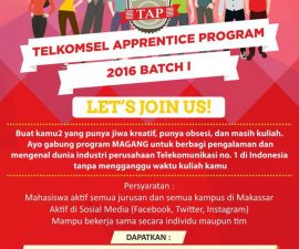 Telkomsel APPRENTICE Program Makassar 2016 Batch I