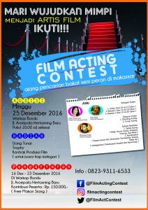 Film Acting Contest Makassar